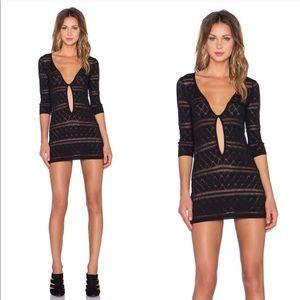 For love and lemons knit Stevie mini dress